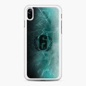 Jtf2 Black Ice R6 iPhone XR Case, White Rubber Case