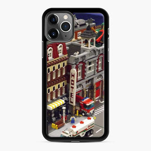 Lego Trains Buildings, Greenberg'S Train And Toy Show, Edison, New Jersey 3 iPhone 11 Pro Max Case, Black Rubber Case