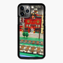 Load image into Gallery viewer, Lego Trains Buildings, Greenberg'S Train And Toy Show, Edison, New Jersey iPhone 11 Pro Max Case, Black Rubber Case