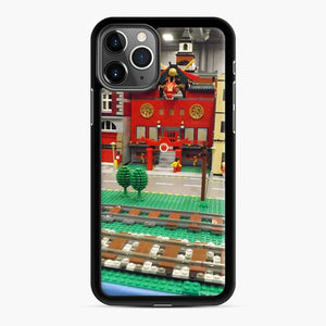 Lego Trains Buildings, Greenberg'S Train And Toy Show, Edison, New Jersey iPhone 11 Pro Max Case, Black Rubber Case