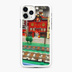 Lego Trains Buildings, Greenberg'S Train And Toy Show, Edison, New Jersey iPhone 11 Pro Max Case, White Rubber Case
