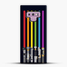 Load image into Gallery viewer, Lightsaber Rainbow Samsung Galaxy Note 9 Case, Snap Case | Webluence.com
