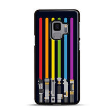 Load image into Gallery viewer, Lightsaber Rainbow Samsung Galaxy S9 Case, Black Plastic Case | Webluence.com