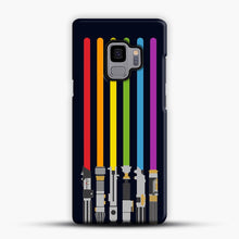 Load image into Gallery viewer, Lightsaber Rainbow Samsung Galaxy S9 Case, Snap Case | Webluence.com