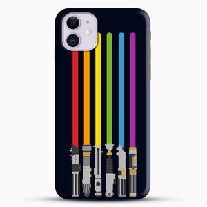 Lightsaber Rainbow iPhone 11 Case.jpg, Snap Case | Webluence.com