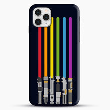 Load image into Gallery viewer, Lightsaber Rainbow iPhone 11 Pro Case, Snap Case | Webluence.com