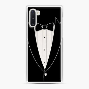 Long Sleeve Tuxedo Samsung Galaxy Note 10 Case, White Plastic Case | Webluence.com