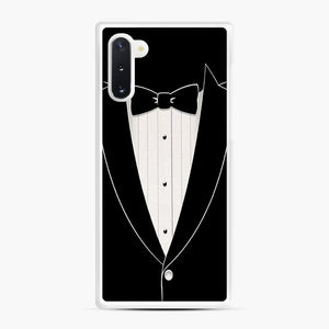 Long Sleeve Tuxedo Samsung Galaxy Note 10 Case, White Rubber Case | Webluence.com