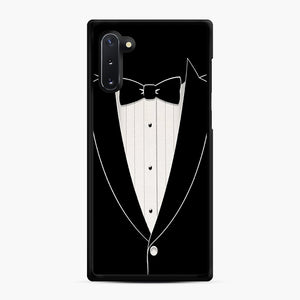 Long Sleeve Tuxedo Samsung Galaxy Note 10 Case, Black Rubber Case | Webluence.com