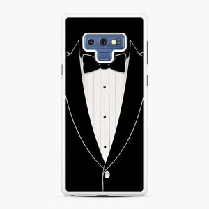 Long Sleeve Tuxedo Samsung Galaxy Note 9 Case, White Rubber Case | Webluence.com