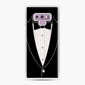 Long Sleeve Tuxedo Samsung Galaxy Note 9 Case, White Plastic Case | Webluence.com