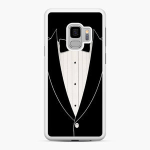 Long Sleeve Tuxedo Samsung Galaxy S9 Case, White Rubber Case | Webluence.com