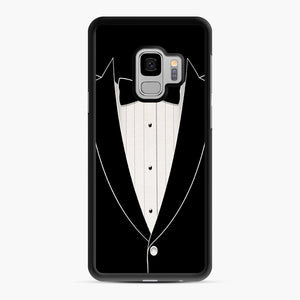 Long Sleeve Tuxedo Samsung Galaxy S9 Case, Black Rubber Case | Webluence.com