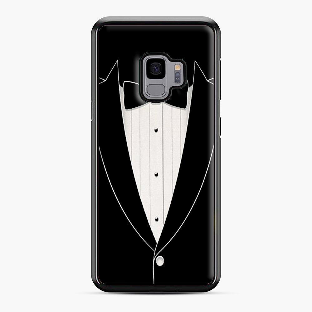 Long Sleeve Tuxedo Samsung Galaxy S9 Case, Black Plastic Case | Webluence.com