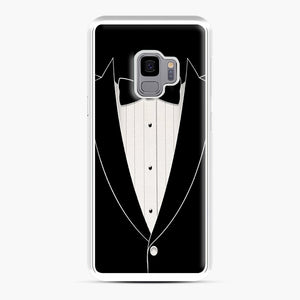 Long Sleeve Tuxedo Samsung Galaxy S9 Case, White Plastic Case | Webluence.com