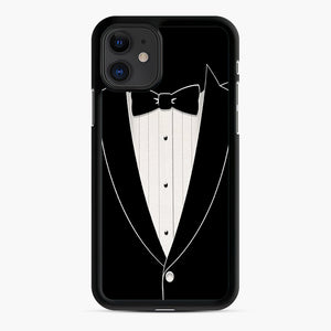 Long Sleeve Tuxedo iPhone 11 Case, Black Rubber Case | Webluence.com