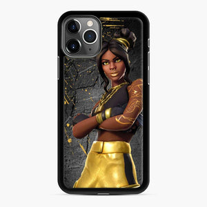Luxe Fortnite iPhone 11 Pro Max Case, Black Rubber Case