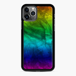 Marble Fade Color Scgo iPhone 11 Pro Max Case, Black Rubber Case