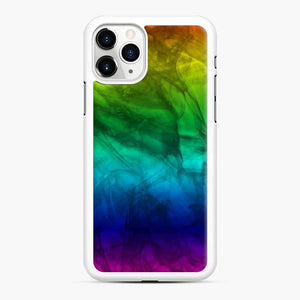 Marble Fade Color Scgo iPhone 11 Pro Max Case, White Rubber Case
