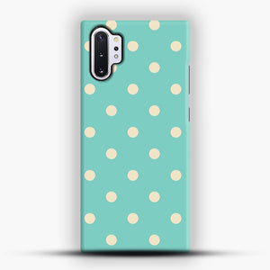 Mint Polka Dot Samsung Galaxy Note 10 Plus Case, Snap Case | Webluence.com