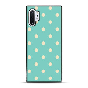 Mint Polka Dot Samsung Galaxy Note 10 Plus Case, Black Rubber Case | Webluence.com
