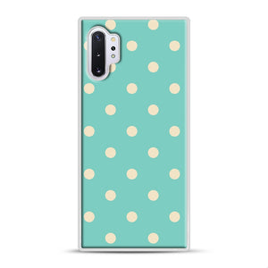 Mint Polka Dot Samsung Galaxy Note 10 Plus Case, White Rubber Case | Webluence.com