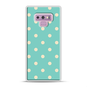 Mint Polka Dot Samsung Galaxy Note 9 Case, White Rubber Case | Webluence.com