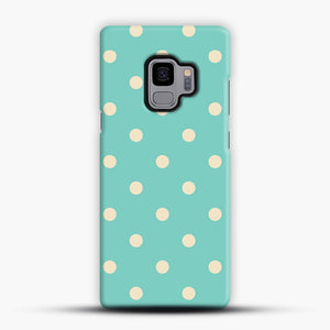 Mint Polka Dot Samsung Galaxy S9 Case, Snap Case | Webluence.com