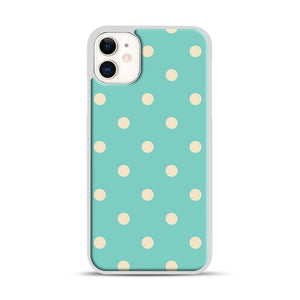 Mint Polka Dot iPhone 11 Case.jpg, White Plastic Case | Webluence.com