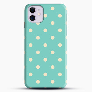 Mint Polka Dot iPhone 11 Case.jpg, Snap Case | Webluence.com