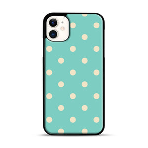 Mint Polka Dot iPhone 11 Case.jpg, Black Rubber Case | Webluence.com
