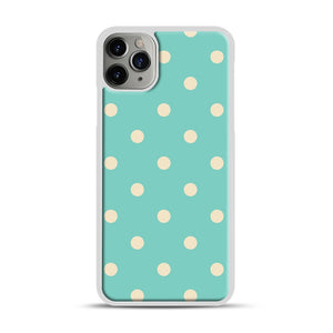 Mint Polka Dot iPhone 11 Pro Max Case.jpg, White Plastic Case | Webluence.com