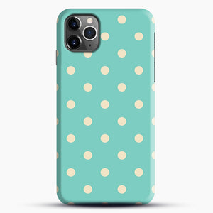 Mint Polka Dot iPhone 11 Pro Max Case.jpg, Snap Case | Webluence.com