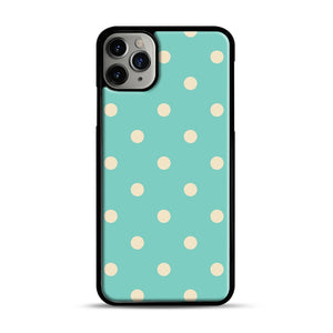 Mint Polka Dot iPhone 11 Pro Max Case.jpg, Black Plastic Case | Webluence.com