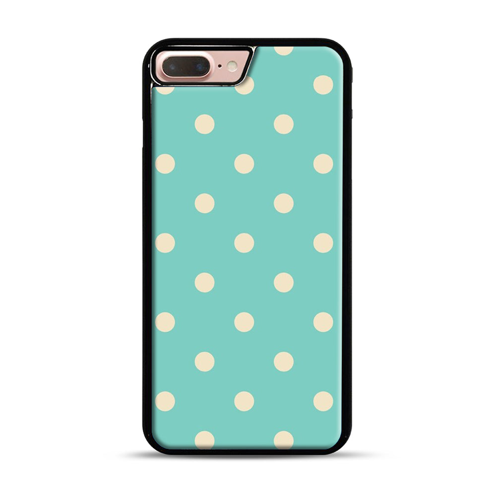 Mint Polka Dot iPhone 7 Plus/8 Plus Case, Black Plastic Case | Webluence.com