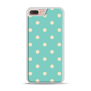 Mint Polka Dot iPhone 7 Plus/8 Plus Case, White Rubber Case | Webluence.com