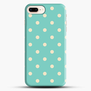 Mint Polka Dot iPhone 7 Plus/8 Plus Case, Snap Case | Webluence.com