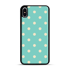 Mint Polka Dot iPhone XS Max Case, Black Plastic Case | Webluence.com