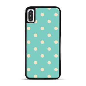 Mint Polka Dot iPhone X/XS Case, Black Plastic Case | Webluence.com