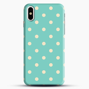 Mint Polka Dot iPhone X/XS Case, Snap Case | Webluence.com