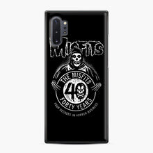 Load image into Gallery viewer, Misfits 40th Anniversary Samsung Galaxy Note 10 Plus Case, Black Plastic Case | Webluence.com