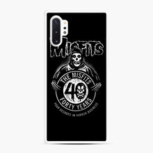 Load image into Gallery viewer, Misfits 40th Anniversary Samsung Galaxy Note 10 Plus Case, White Rubber Case | Webluence.com