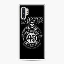 Load image into Gallery viewer, Misfits 40th Anniversary Samsung Galaxy Note 10 Plus Case, White Plastic Case | Webluence.com