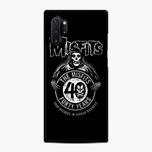 Misfits 40th Anniversary Samsung Galaxy Note 10 Plus Case, Black Rubber Case | Webluence.com