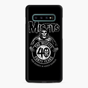 Misfits 40th Anniversary Samsung Galaxy S10 Plus Case, Black Rubber Case | Webluence.com