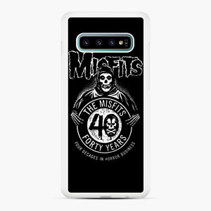 Misfits 40th Anniversary Samsung Galaxy S10 Plus Case, White Rubber Case | Webluence.com