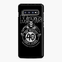 Load image into Gallery viewer, Misfits 40th Anniversary Samsung Galaxy S10 Plus Case, Black Plastic Case | Webluence.com