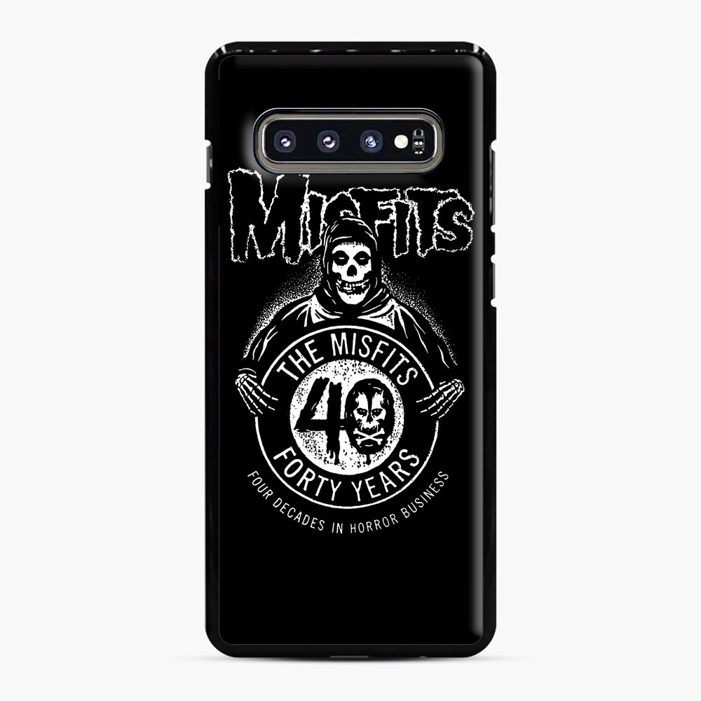 Misfits 40th Anniversary Samsung Galaxy S10 Plus Case, Black Plastic Case | Webluence.com