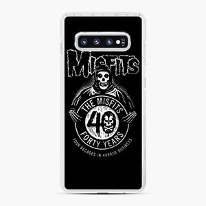 Misfits 40th Anniversary Samsung Galaxy S10 Plus Case, White Plastic Case | Webluence.com