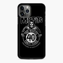 Load image into Gallery viewer, Misfits 40th Anniversary iPhone 11 Pro Case, Black Rubber Case | Webluence.com